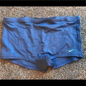 Nike boyshort style swim bottoms